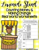 Counting Money and Making Change Real World Worksheets