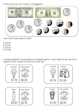 Counting Money and Making Change Worksheet