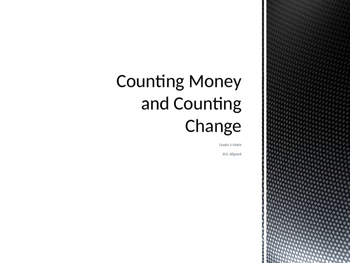 Counting Money and Making Change powerpoint
