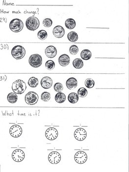 Counting Money and Telling Time