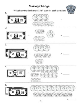 Counting Money and Telling Time - 3rd Grade Math Review & Practice