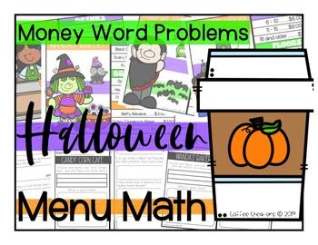 Counting Money using Menus {Halloween Themed}