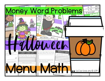 Counting Money using Menus {Halloween Themed}