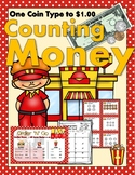 Counting Money with a Menu - ONE COIN TYPE to $1.00