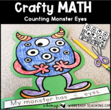 Counting Monster Eyes Math Craft (From Crafty Math Bundle 1)