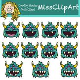 Counting Monster Teeth (Color and B&W){MissClipArt}