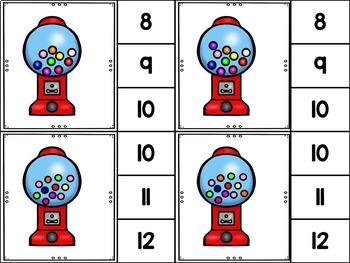 Counting 1-12, More, Less, the Same -  PK/K Math Skills