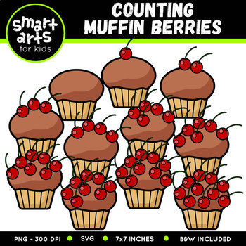 Counting Muffin Berries Clip Art
