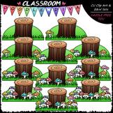 (0-10) Counting Mushrooms Clip Art - Counting & Math Clip Art & B&W Set