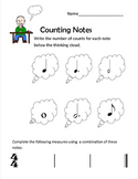 Counting Notes Thinking Boy