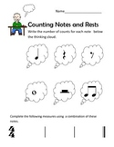 Counting Notes and Rests Thinking Boy