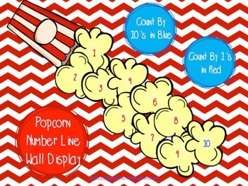 Counting Number Line (Popcorn Theme)