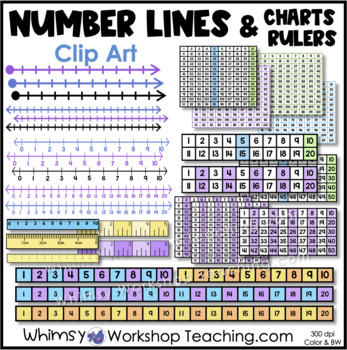 Counting: Number Lines and Abacus Clip Art - Whimsy Workshop Teaching
