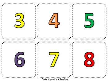 Counting Number Match Game - Bubblegum