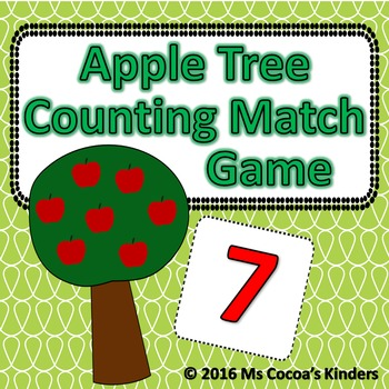 Counting Number Match Game - Apple Tree