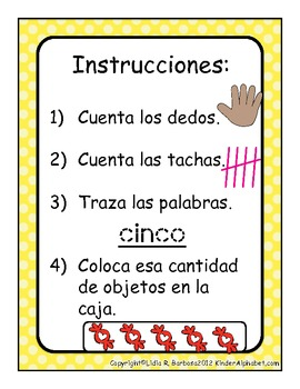 Counting Number Mats- Spanish