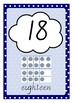 Counting Number Posters - Ocean Sea Colours - Victorian Cursive Font