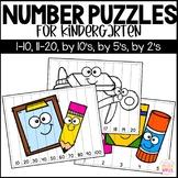 Number Puzzles for Kindergarten