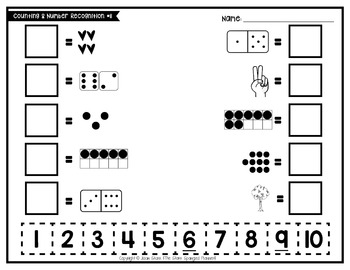 Counting & Number Recognition Puzzles