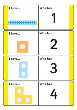 Counting Number Shapes - 1-31 Loop Cards