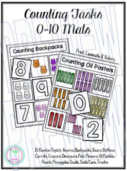 Counting Number Tasks 0-10 Set One