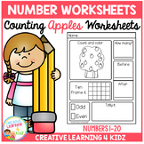 Counting & Number Worksheets 1-20: Apples