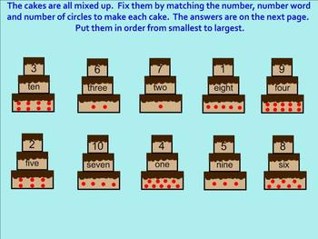 Counting to Ten - Number and Number Word Recognition - Smartboard