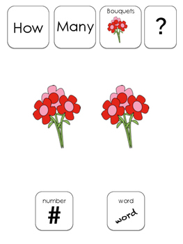 Counting Number and Words (1-10): Valentines Edition