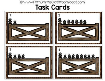Counting Numbers 0 - 10 Crow Themed Task Cards