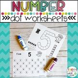 Preschool Worksheets: Number Dot Marker Worksheets