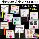 Kinder Math Activities BUNDLE Counting Numbers 0-10