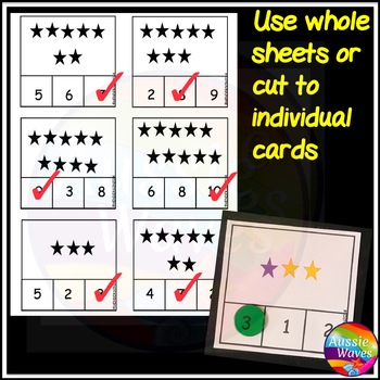 Numbers 0-10 Number Recognition Counting Objects Kinder  Math Center Activity