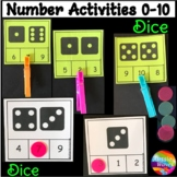 Math Activity Dice Patterns Counting Numbers 0-10