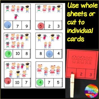 Counting Numbers 0-10 Number Recognition COUNT Kids Kinder Math Center Activity