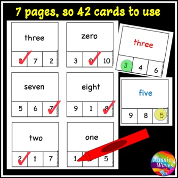 Math Activities Number Recognition and Words Numbers 0-10