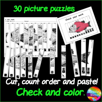 Counting Number Puzzles 0-10 Cut & Order BUNDLE Kinder Math Center ...