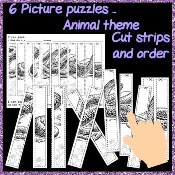 Math Number Puzzles 0-10 FINGER COUNTS Cut and Paste Activity