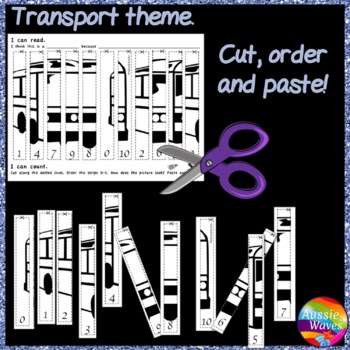 Math Number Activities Cut and Paste Puzzles 0-10 Order NUMERALS