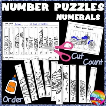 Counting Numbers 0-10 Recognize & Order NUMERALS Kinder Ma