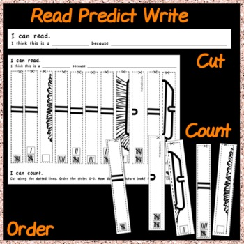 Counting Number Puzzles 0-10 Order TALLY MARKS Kinder Math Center Activity