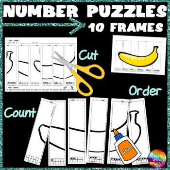 Counting Numbers 0-5 Recognize & Order 5-FRAMES Kinder Math Center Activity