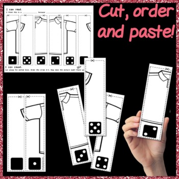 Counting Number Puzzles 0-5 & Order DICE PATTERNS Kinder Math Center Activity