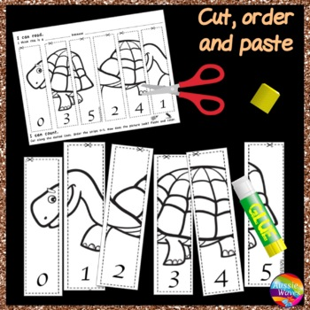 Counting Numbers Puzzles 0-5 Order NUMERALS Kinder Math Center Activity