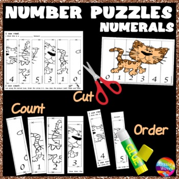 Math Center Activity Puzzles ORDERING Numbers 0-5