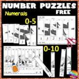 Counting Number Puzzles 0-5 and 0-10 Recognition Ordering