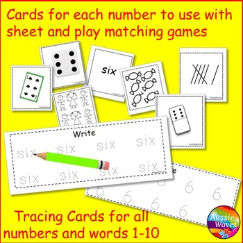 Teaching Counting Numbers 1-10 Math Center Activities Number Mats and Cards