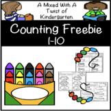 Counting Numbers 1 - 10 Freebie