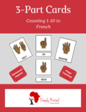 Counting Numbers (1-10) French 3-part Card