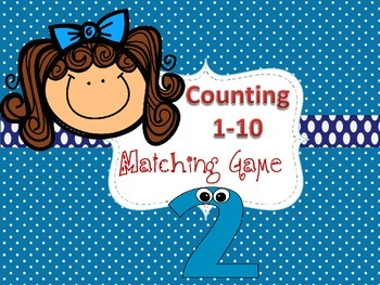 Counting Numbers 1-10: Pre-K & Kindergarten Matching Game