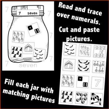 Counting Numbers 1-10 Math Center Activities Print and Go Number Sequence Game